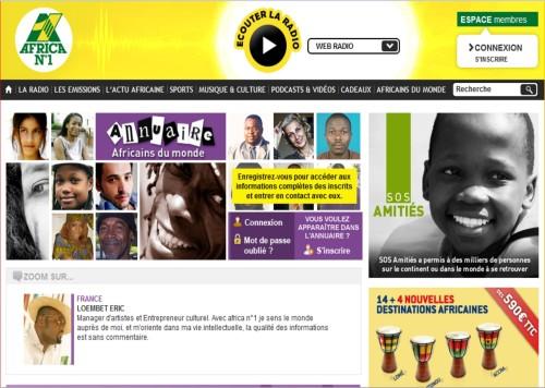 Afrique1.com copie écran